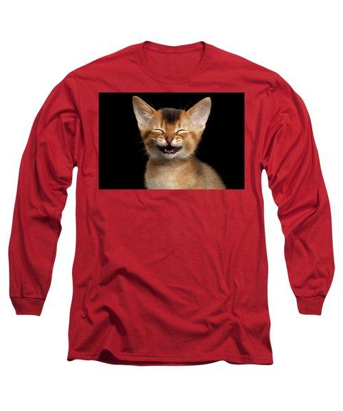 Laughing Kitten  Long Sleeve T-Shirt by Sergey Taran