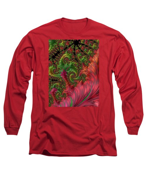 Long Sleeve T-Shirt featuring the photograph Leaf And Lace by Ronda Broatch