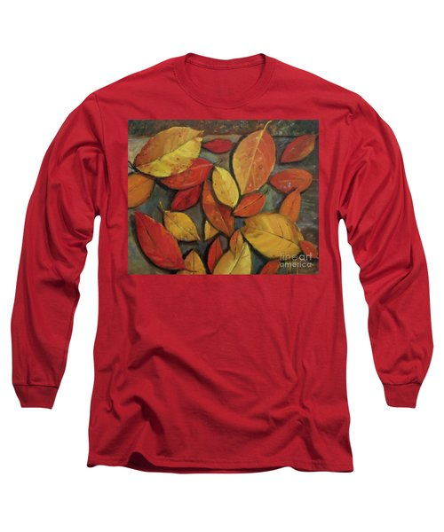 Leaf Collection Long Sleeve T-Shirt by Mary Hubley