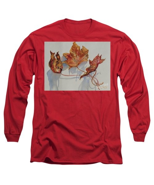 Leaves Of Fall Long Sleeve T-Shirt by Mary Haley-Rocks