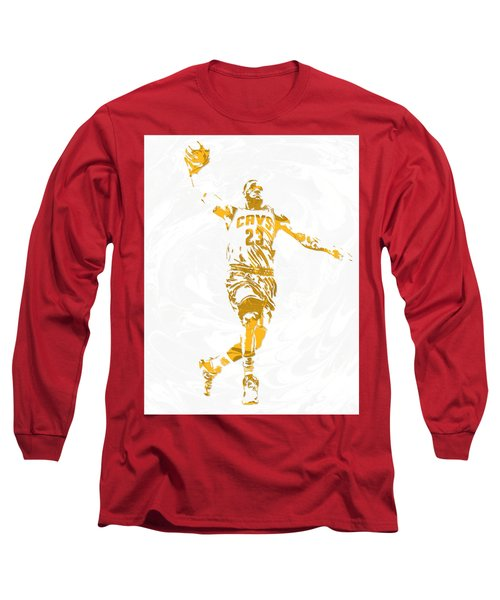 Lebron James Cleveland Cavaliers Pixel Art 12 Long Sleeve T-Shirt