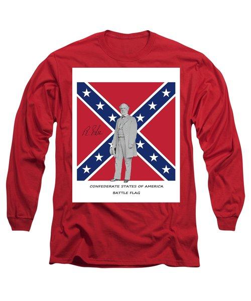 Lee Battleflag Long Sleeve T-Shirt