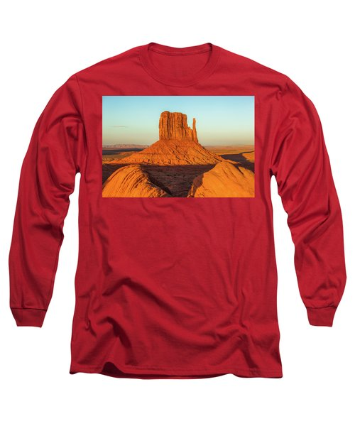 Left Mitten Sunset - Monument Valley Long Sleeve T-Shirt