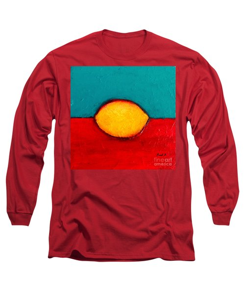 Lemon Long Sleeve T-Shirt by Fred Wilson