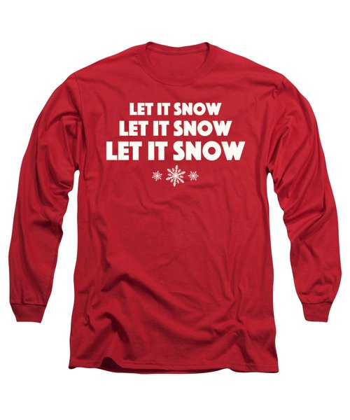 Long Sleeve T-Shirt featuring the digital art Let It Snow With Snowflakes by Heidi Hermes