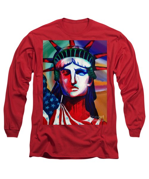 Liberty Of Statue New York 98jhm Long Sleeve T-Shirt by Gull G