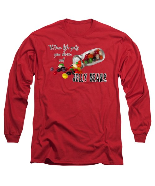 Life And Jelly Beans Long Sleeve T-Shirt by Phyllis Denton