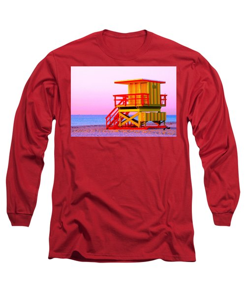 Lifeguard Stand Miami Beach Long Sleeve T-Shirt