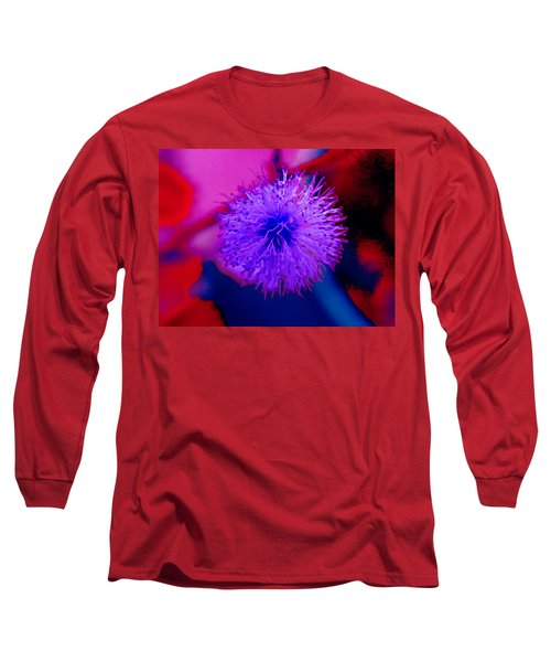 Light Purple Puff Explosion Long Sleeve T-Shirt by Samantha Thome