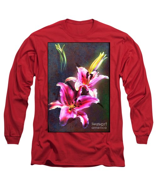 Lilies At Night Long Sleeve T-Shirt