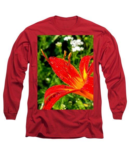 Lily And Raindrops Long Sleeve T-Shirt