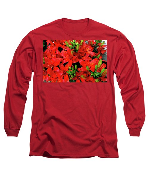 Long Sleeve T-Shirt featuring the photograph Lily Blossoms by LeeAnn McLaneGoetz McLaneGoetzStudioLLCcom