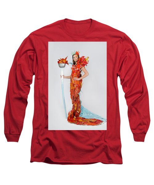 Lily In Fire And Ice Queen Long Sleeve T-Shirt