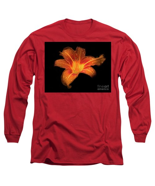 Lily Raindrops In Giverny, France Long Sleeve T-Shirt