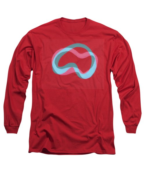 Line Study With Blue And Grey Long Sleeve T-Shirt
