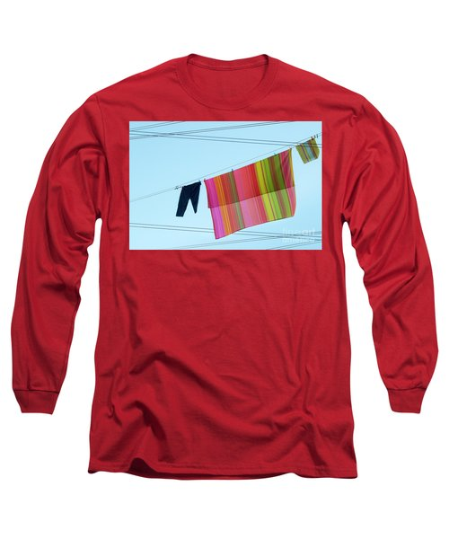 Lines In The Sky Long Sleeve T-Shirt by Ana Mireles