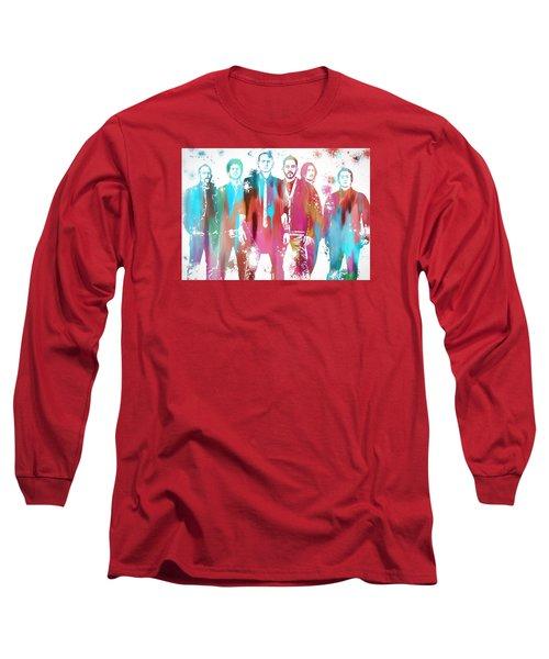Linkin Park Watercolor Paint Splatter Long Sleeve T-Shirt