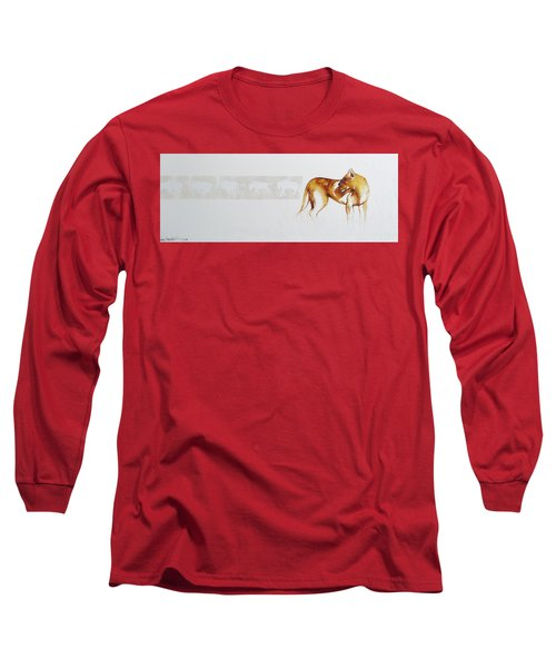 Lioness And Wildebeest Long Sleeve T-Shirt