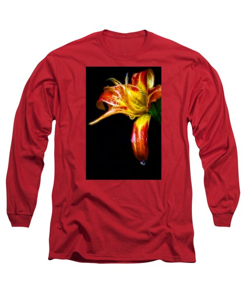 Long Sleeve T-Shirt featuring the photograph Liquid Lily by Cameron Wood