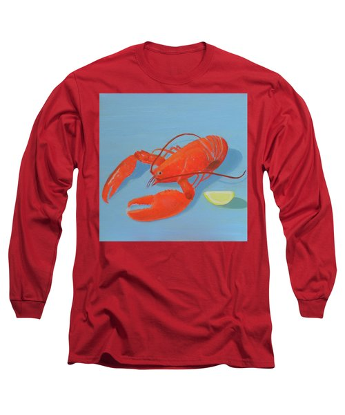 Lobster And Lemon Long Sleeve T-Shirt