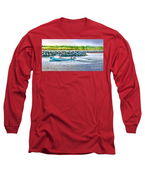 Lobster Fishing Day's End Long Sleeve T-Shirt by Patricia L Davidson