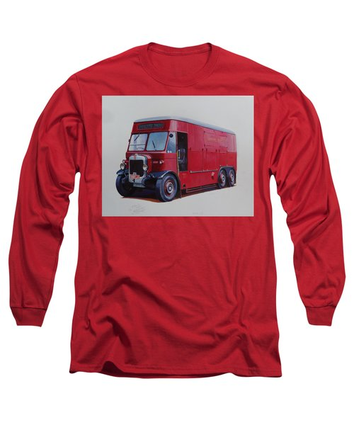 Long Sleeve T-Shirt featuring the painting London Transport Wrecker. by Mike Jeffries