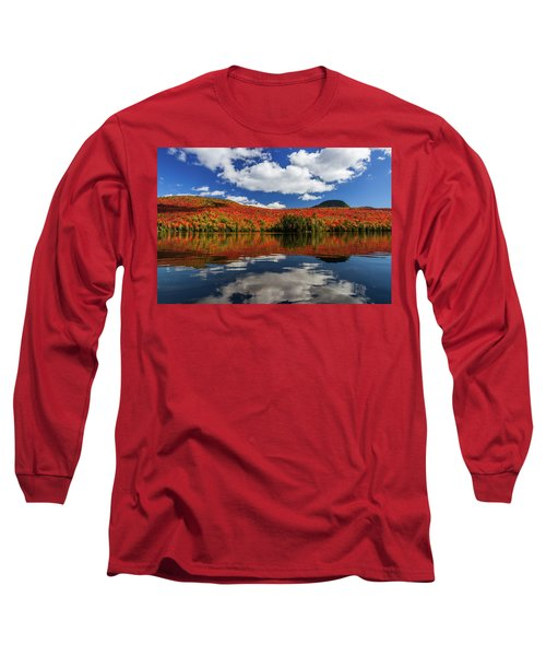 Long Pond And Clouds Long Sleeve T-Shirt