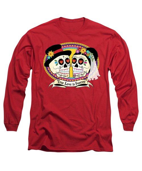 Los Novios Sugar Skulls Long Sleeve T-Shirt