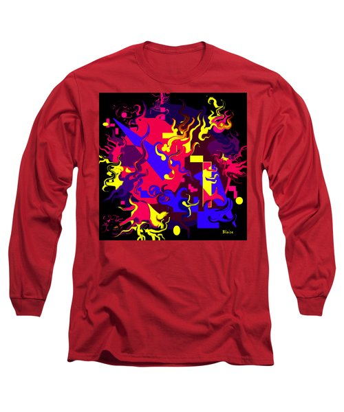 Loss Of Equilibrium Long Sleeve T-Shirt by Yvonne Blasy
