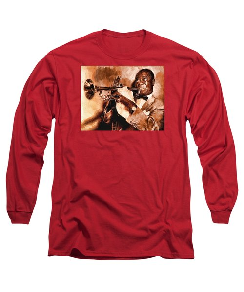 Louis Armstrong Long Sleeve T-Shirt by Louis Ferreira