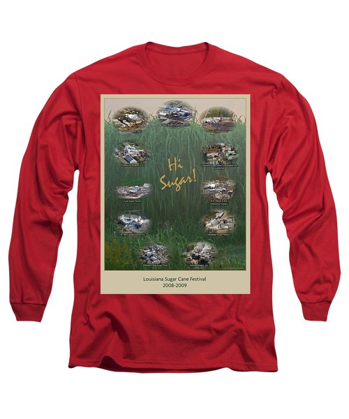 Louisiana Sugar Cane Poster 2008-2009 Long Sleeve T-Shirt by Ronald Olivier
