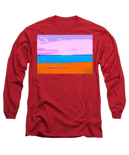 Lounge Chairs On The Beach Long Sleeve T-Shirt