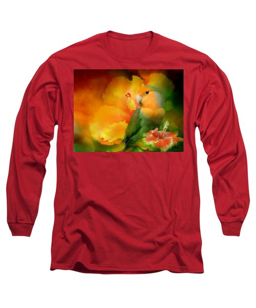 Love Among The Hibiscus Long Sleeve T-Shirt