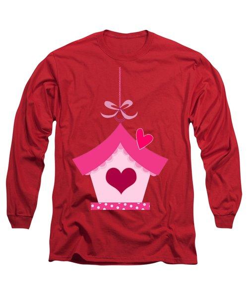 Love House T-shirt Long Sleeve T-Shirt by Herb Strobino