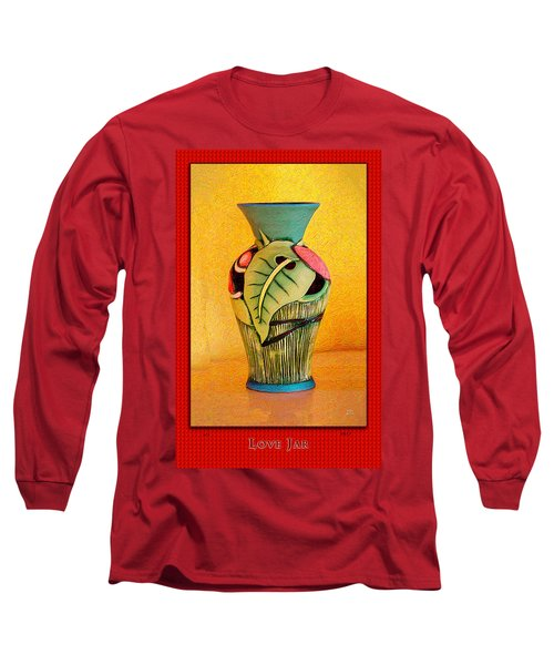Love Jar Red Background Long Sleeve T-Shirt
