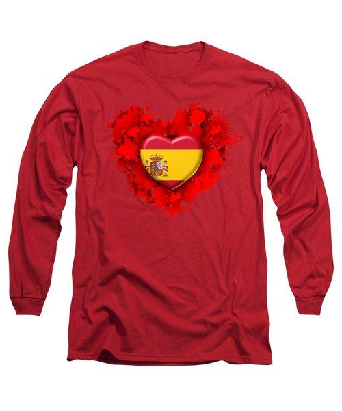 Love Spain Long Sleeve T-Shirt by Alberto RuiZ