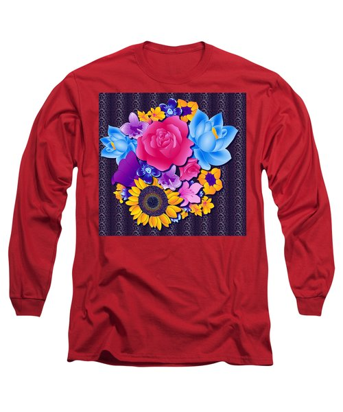 Lovely Bouquet Long Sleeve T-Shirt by Samantha Thome
