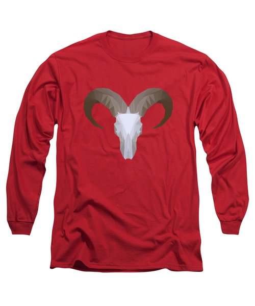 Low Poly Aoudad Long Sleeve T-Shirt