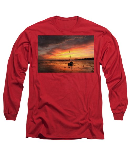 Low Tide Sunset Sailboats Long Sleeve T-Shirt