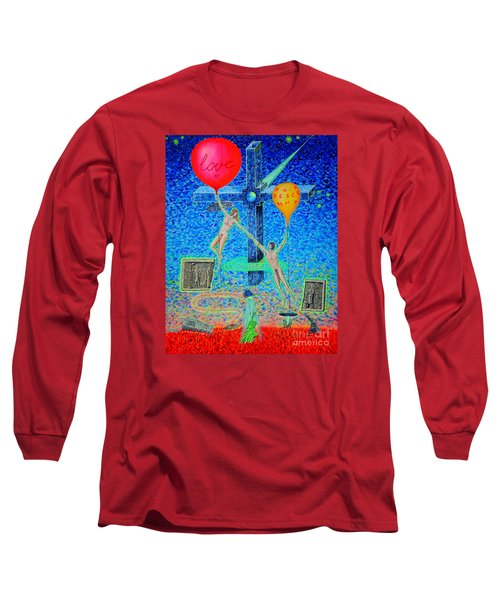 Long Sleeve T-Shirt featuring the painting L.v P. by Viktor Lazarev