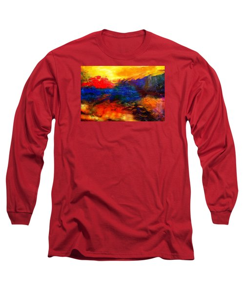 Long Sleeve T-Shirt featuring the digital art Lyrical Landscape by Diana Riukas