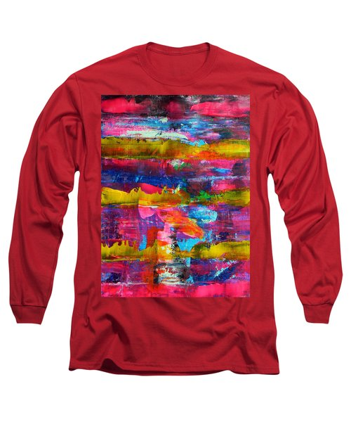 Long Sleeve T-Shirt featuring the painting Mad Season by Everette McMahan jr