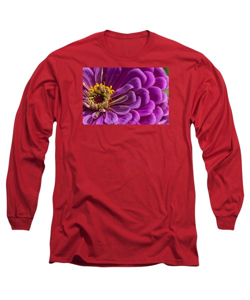Magenta Zinnia Long Sleeve T-Shirt