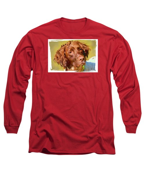 Long Sleeve T-Shirt featuring the photograph Maggie Head 3 by Constantine Gregory