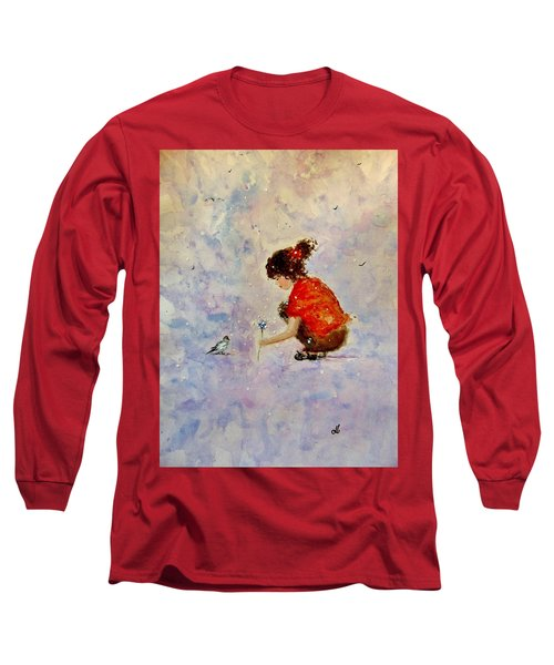 Long Sleeve T-Shirt featuring the painting Make A Wish 20 by Cristina Mihailescu