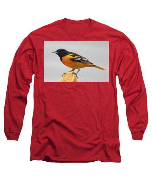 Male Baltimore Oriole Long Sleeve T-Shirt