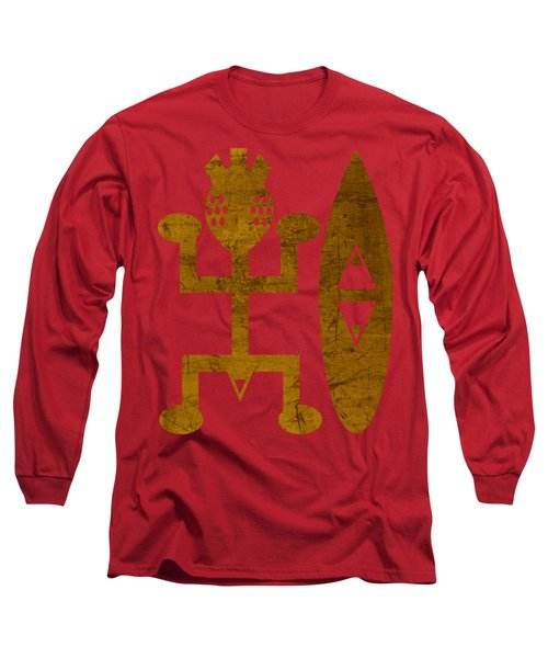 Male Red Long Sleeve T-Shirt