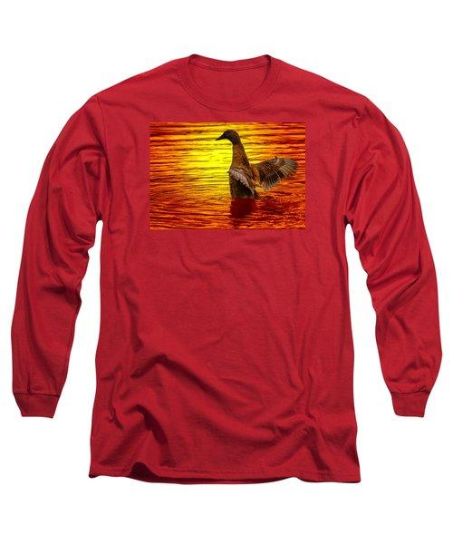 Mallard Sunset Long Sleeve T-Shirt