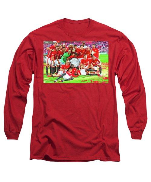 Manchester United Celebrates Long Sleeve T-Shirt by Don Kuing