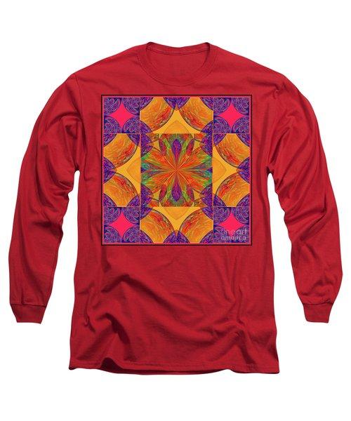 Mandala #2  Long Sleeve T-Shirt by Loko Suederdiek